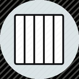 column, columns, grid, interface, layout, vertical, workspace icon