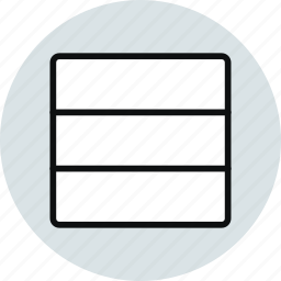 blocks, grid, horizontal, layout, row, rows, workspace icon