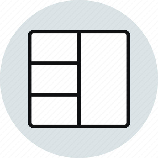 grid, inteface, layout, row, stacked, workspace icon