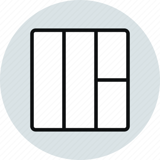 grid, interface, layout, row, stacked, workspace icon