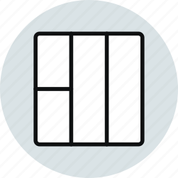 blocks, grid, interface, layout, stacked, workspace icon