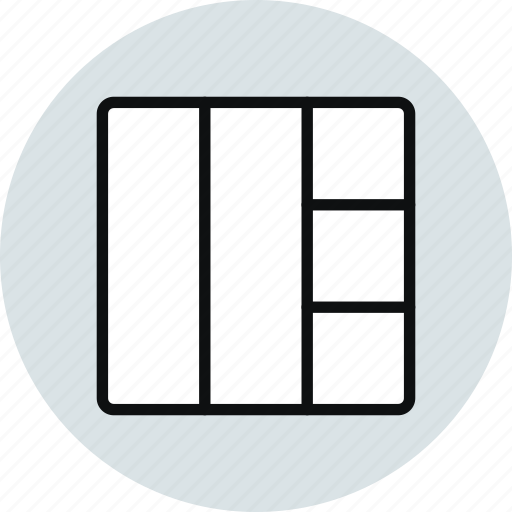 block, grid, interface, layout, stacked, workspace icon