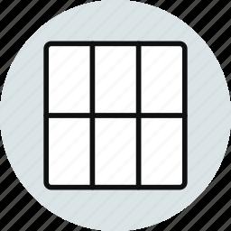 block, column, grid, layout, workspace icon