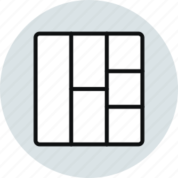 block, column, grid, layout, row, stacked, workspace icon