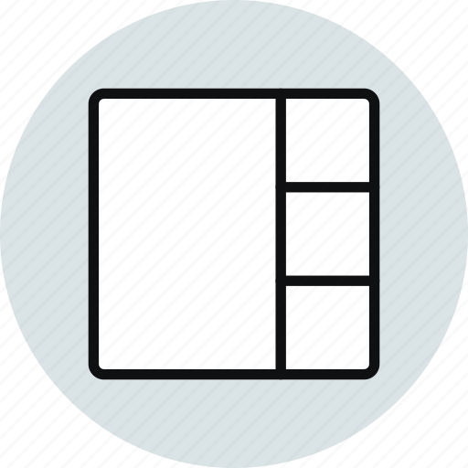 block, column, grid, layout, stacked, workspace icon