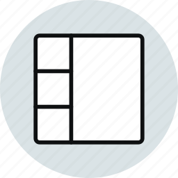 column, grid, layout, stacked, ux, workspace icon