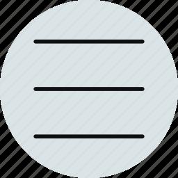 hamburger, layout, menu, options, properties icon