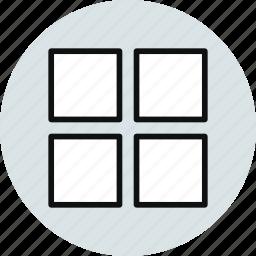 big, grid, layout, thumbnails icon