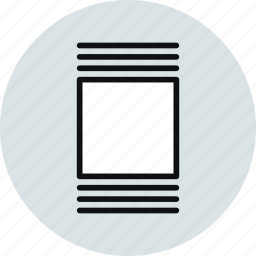 cover, flow, layout, thumbnails, vertical icon