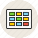 grid, layout, thumbnails, wireframe icon