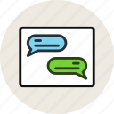 chat, conversation, grid, layout, messages, wireframe