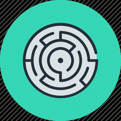 labyrinth, map, maze icon