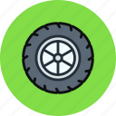 car, tire, tyre, wheel icon