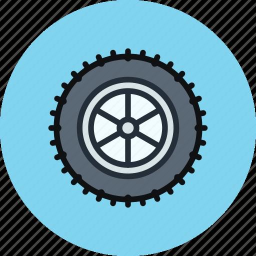 car, studded, tire, wheel icon