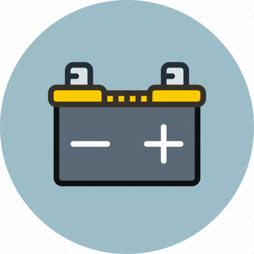 accumulator, battery, car, electric icon