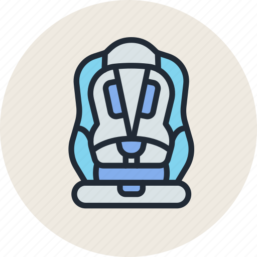 baby, belt, car, chair, child, safety, seat icon