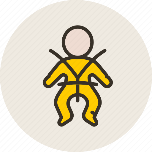 baby, belt, car, safety icon