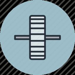 cogwheel, edge, gear, industrial, mechanic, side icon