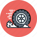 mechanics, wheel, auto, friction, brake, physics, movement