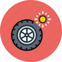 car, maintenance, service, summer, tires, wheel icon