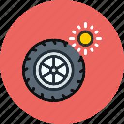 car, maintenance, service, summer, tires, wheel icon