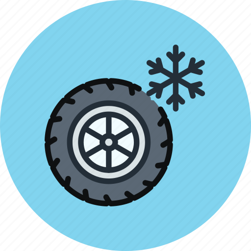 car, maintenance, service, tires, wheel, winter icon