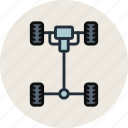auto, car, chassis, mechanics icon