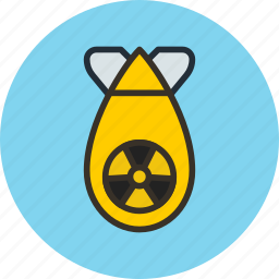 atomic, bomb, military, nuclear, war, weapon icon