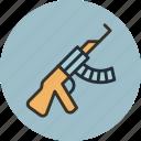 gun, kalashnikov, rifle, tommy, war, weapon