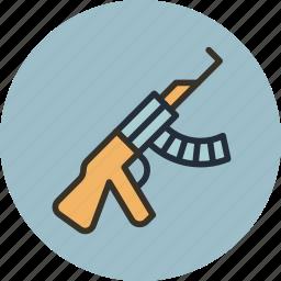 gun, kalashnikov, rifle, tommy, war, weapon icon