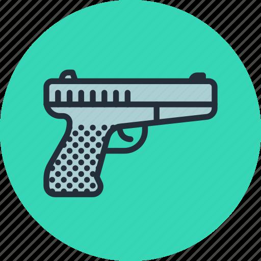 gun, handgun, military, pistol, war, weapon icon