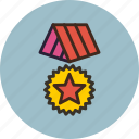 bonus, distinction, hierarchy, medal, military, reward, war icon