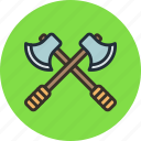 attack, axes, battle, military icon