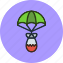 air, atomic, bomb, military, nuclear, parachute, war icon