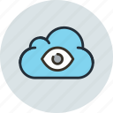 bigbrother, cloud, data, eye of true, god, government, storage icon