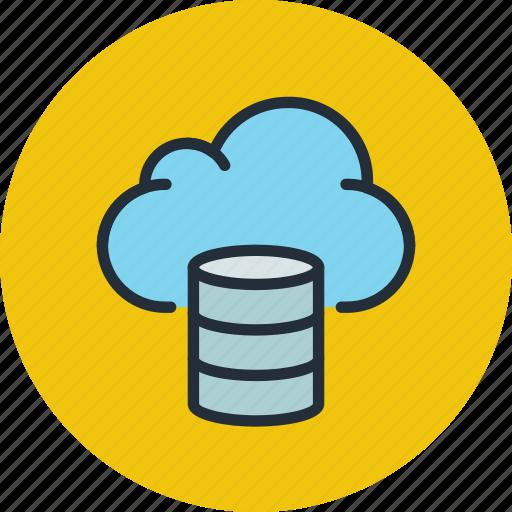 backup, cloud, database, hosting, storage icon