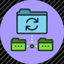 backup, copy, data, folder, sync, synchronization, synchronize icon