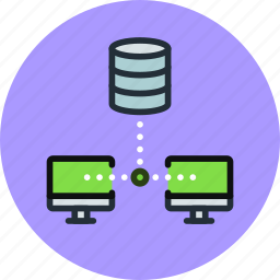 backup, computer, connection, copy, database, storage, sync icon