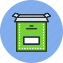 box, install, open, product icon