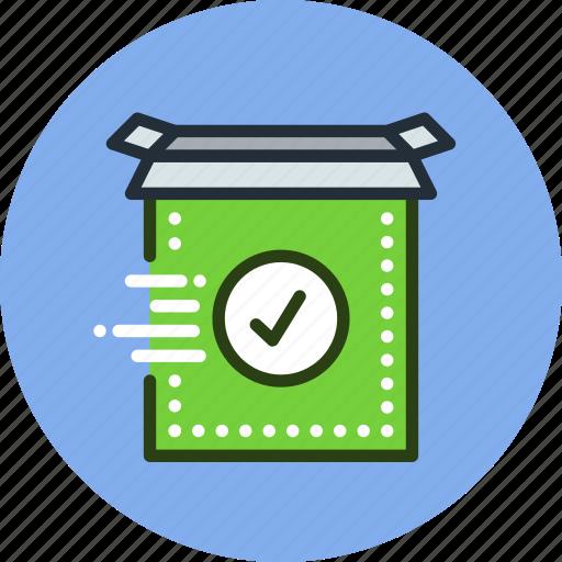 box, check, final, install, product, ready, setup icon