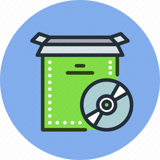 box, cd, disc, install, open, product, setup icon