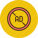 ad, advertise, advertisement, block, blocker, no icon