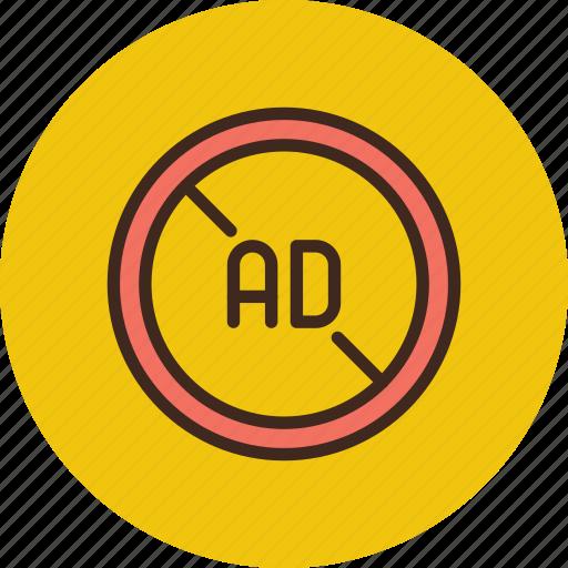 ad, advertise, advertisement, block, blocker, no icon