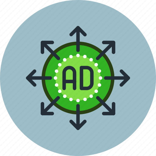 ad, advertise, advertisement, marketing, process, strategy icon