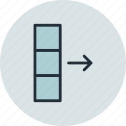 column, data, database, export icon