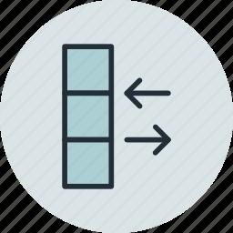 column, data, database, exchange, sync, traffic icon