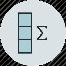 column, data, database, summ, summary icon