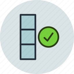 check, column, database, done, ok icon