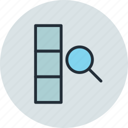 column, data, database, find, search icon