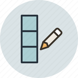 column, data, database, edit icon